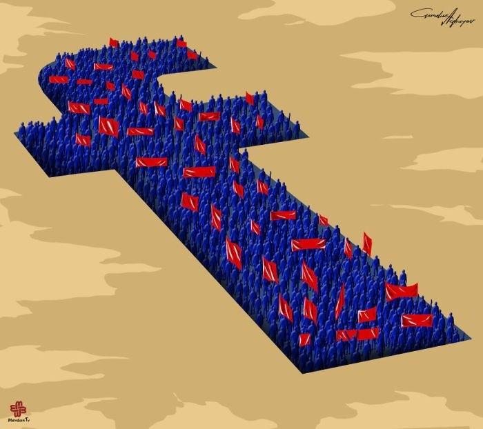 Проблемы современного мира в рисунках Гюндуза Агаева