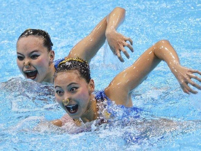 Лица в синхронном плавание