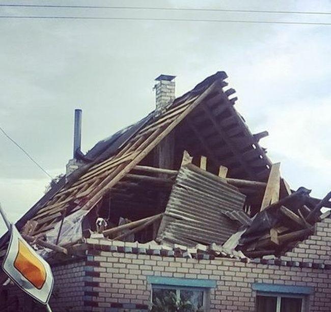 Смерч в Витебской области Белоруссии
