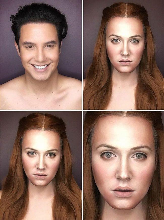 Талантливый визажист превращает себя в героинь сериала «Игра престолов»
