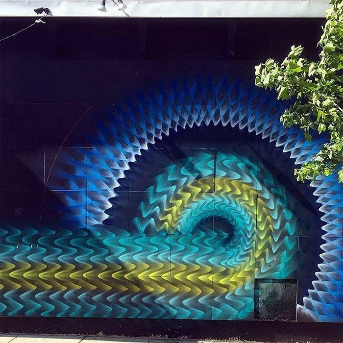 Калейдоскопические граффити Дугласа Хокзема