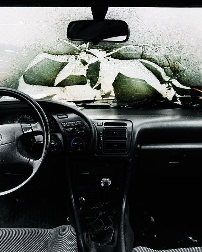 Что видит перед собой водитель, попавший в серьезную аварию