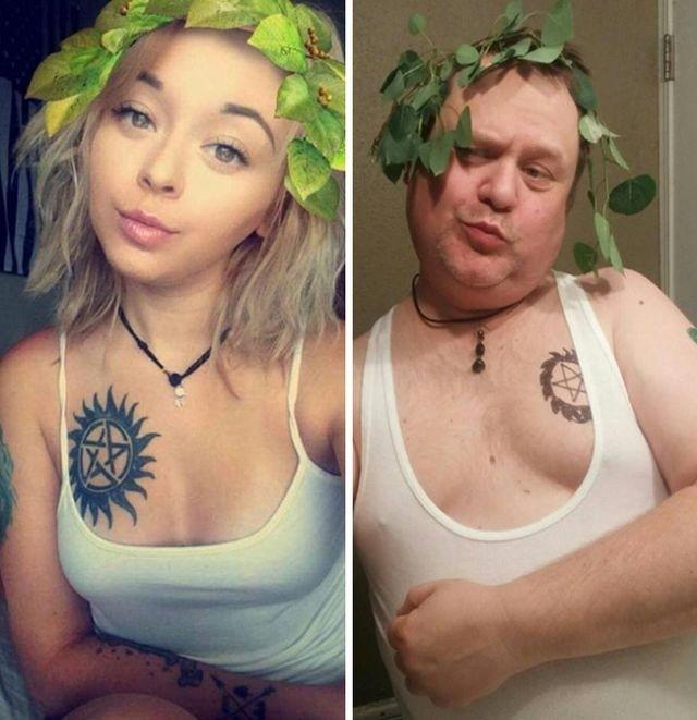 Парни троллят девушек, пародируя их фото