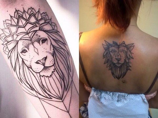 Рисунок льва может служить индикатором профессионализма тату-мастера