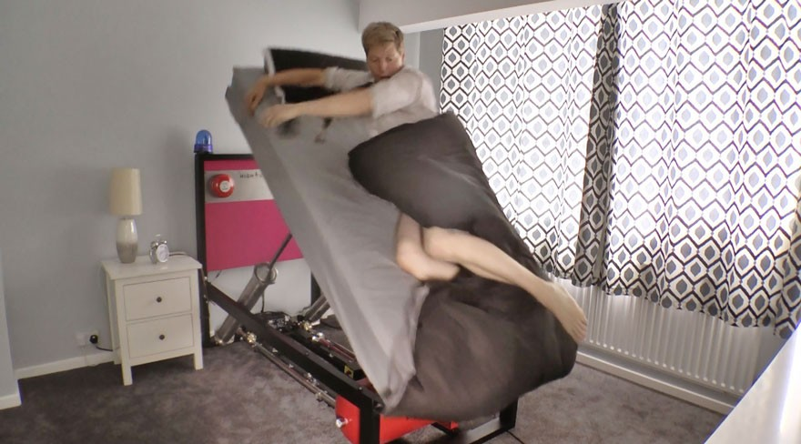 Наконец создана кровать, вышвыривающая вас утром из постели