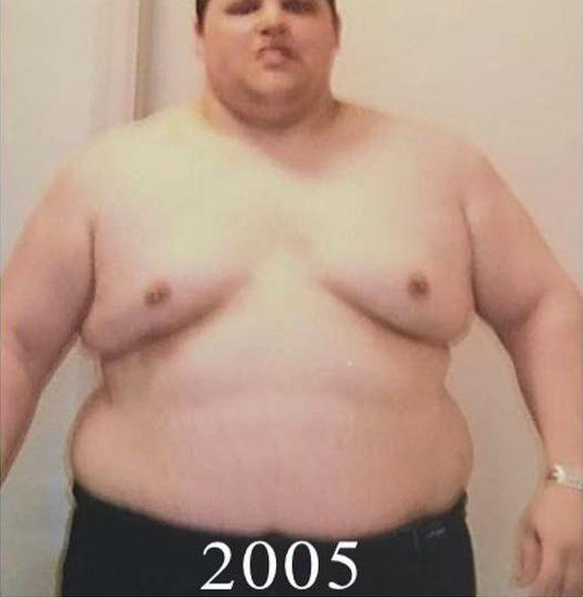 Парень превратился из толстяка в настоящего атлета