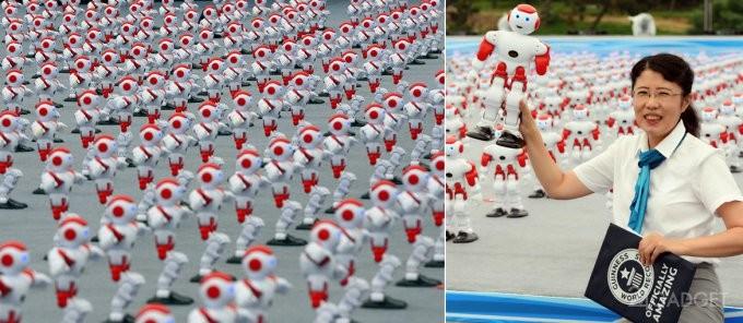 Китайские роботы попали в Книгу рекордов Гиннесса (8 фото + видео)