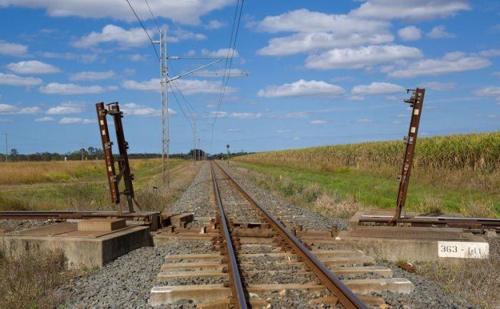 Разводной мост на железнодорожном перекрестке в Австралии