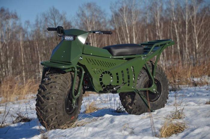 Taurus - уникальный мотоцикл-вездеход отечественного производства (5 фото)