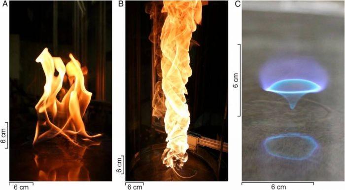 Ученые открыли новый вид пламени – голубое огненное торнадо
