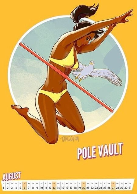 Олимпийский календарь в стиле пин-ап от Андрея Тарусова