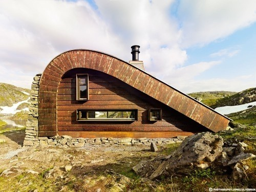 Уютная современная хижина в Норвегии