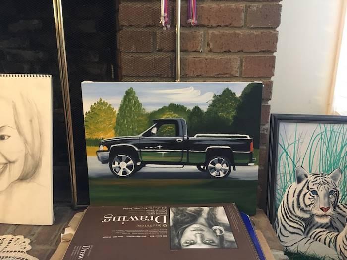 Парализованный художник создает вдохновляющие произведения искусства (16 фото)