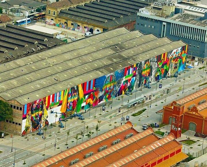 Самый большой в мире стрит-арт рисунок, сделанный одним человеком