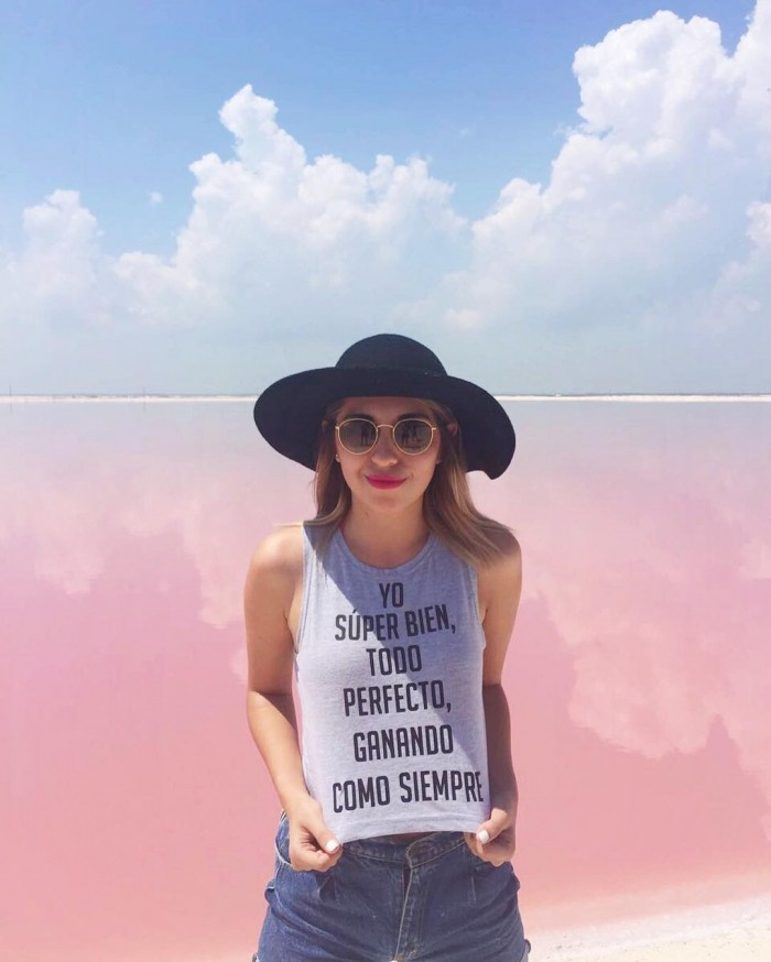 Розовая лагуна в Мексике — идеальное место создания фотографий для Instagram
