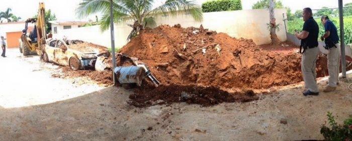 В Пуэрто-Рико пенсионер закопал Lexus, чтобы получить страховку