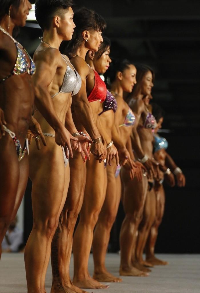 Соревнованиях по бодибилдингу среди женщин в Гонконге