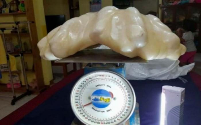 Гигантская жемчужина десять лет пролежала под кроватью филиппинского рыбака