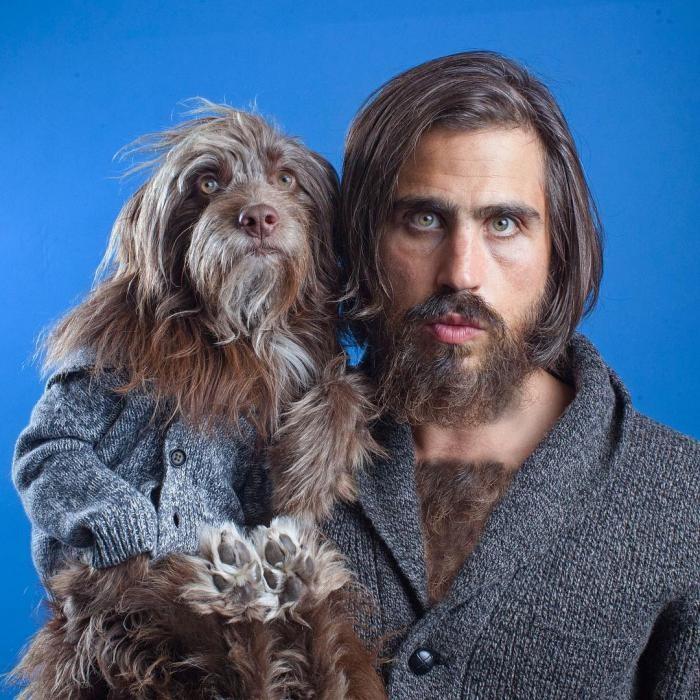 Парень и его собака настолько похожи, что порой даже не смешно (10 фото)