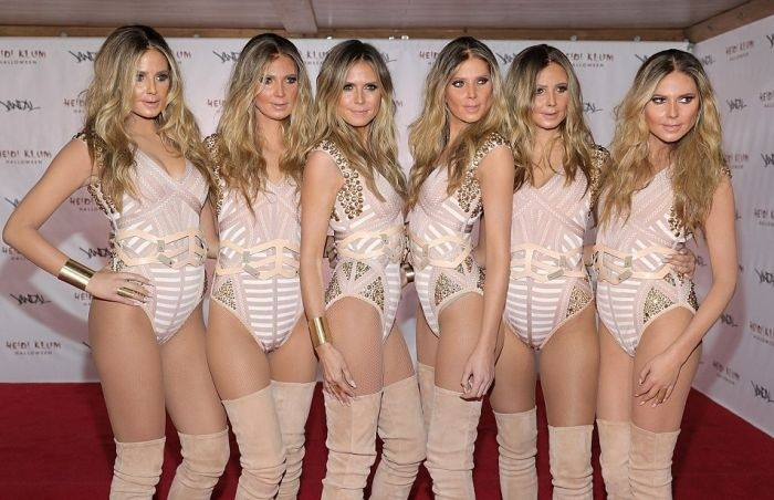 Хайди Клум «клонировала» саму себя на Хэллоуин