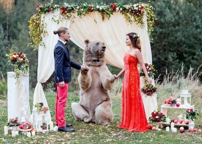 Креативная свадебная фотосессия