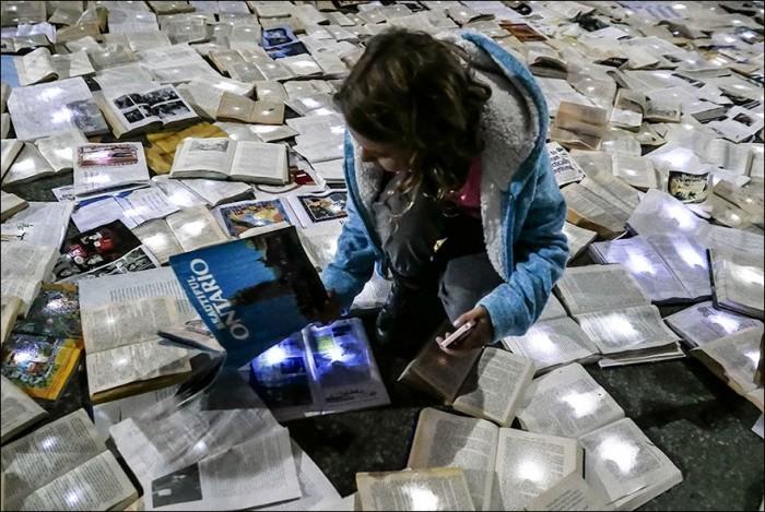 В Торонто появилась река из 10 000 книг