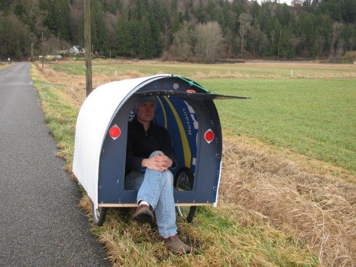 Американец построил велодом, чтобы путешествовать по стране