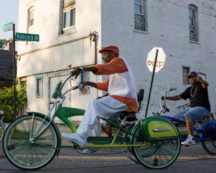 Крутые велобайкеры Детройта