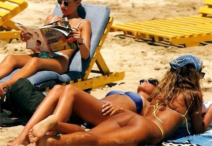 Девушки на чилийском пляже Ренака, 1980-е