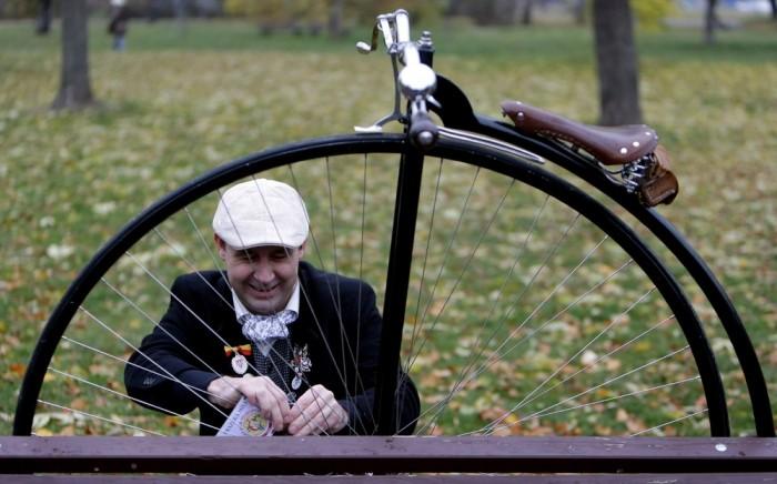 Пенни фартинг гонка в Праге