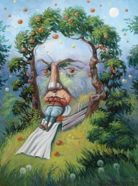 Оптические иллюзии в картинах украинского художника