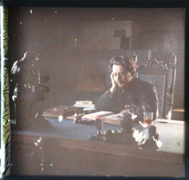 Цветные фотографии Леонида Андреева, сделанные более 100 лет назад
