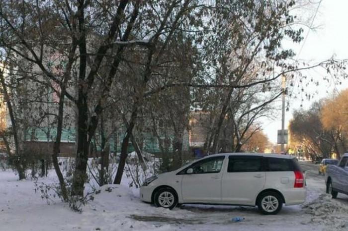 В Благовещенске автомобилист превратил оскорбительную надпись на машине в похвалу
