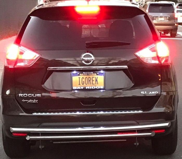 «Русские» автомобильные номера в США
