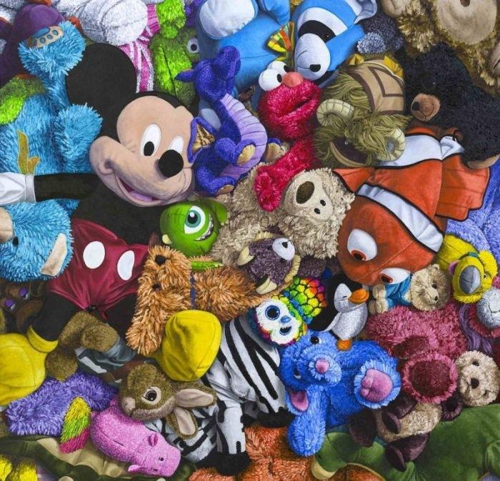 Невероятно реалистичные картины с плюшевыми игрушками