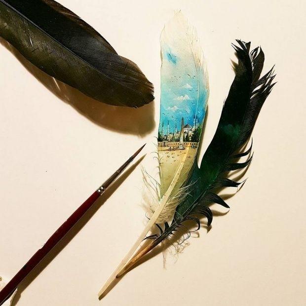 Миниатюрные рисунки на различных предметах