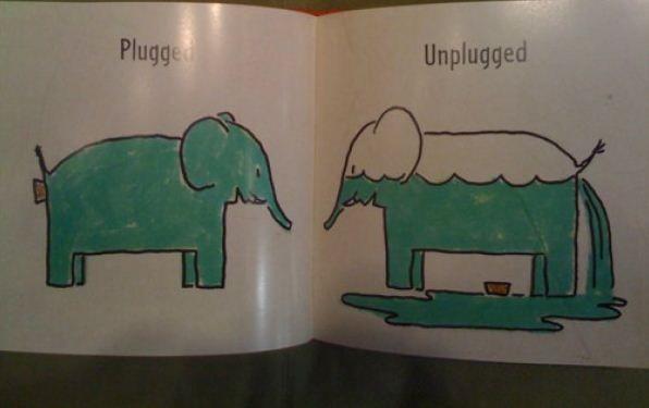 Детская книга про слона (6 фото)