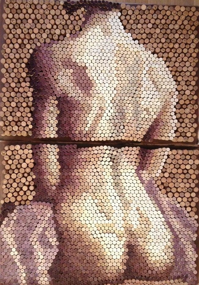 Картины из винных пробок от лондонского художника