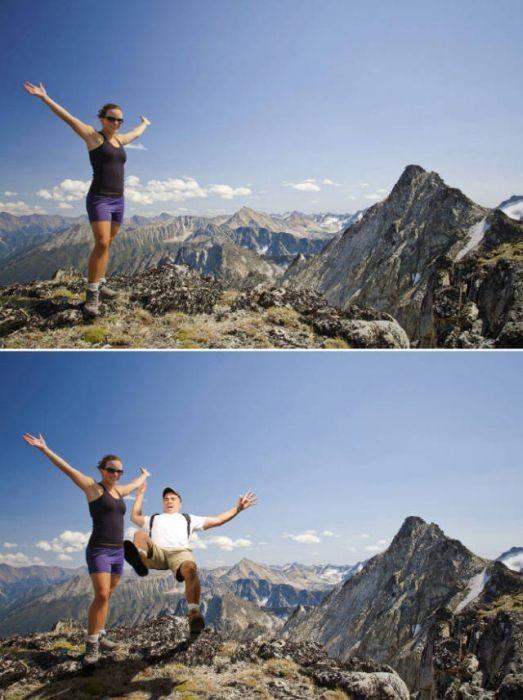 Веселые фотобомбы на основе снимков из фотостоков (14 фото)