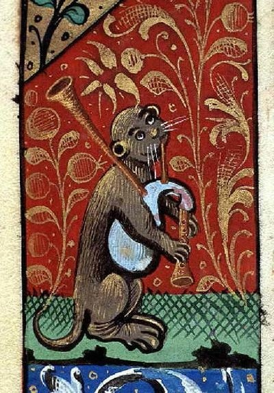 Кошки в работах художников средневековья
