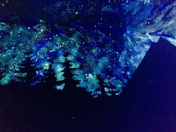 Великолепное звездное небо на потолке