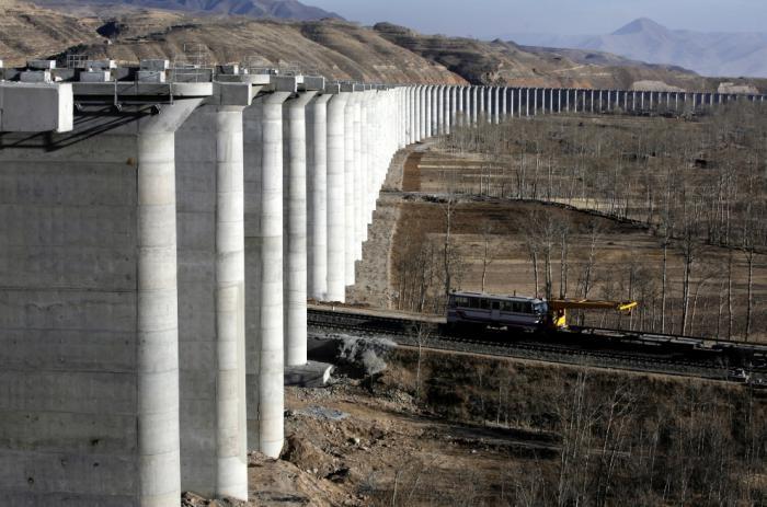 Строительство ЖД в Китае (29 фото)