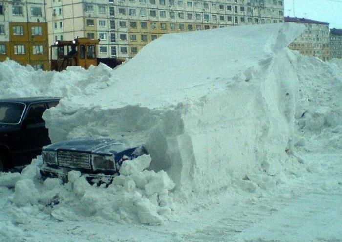 Снегопады в Норильске (6 фото)