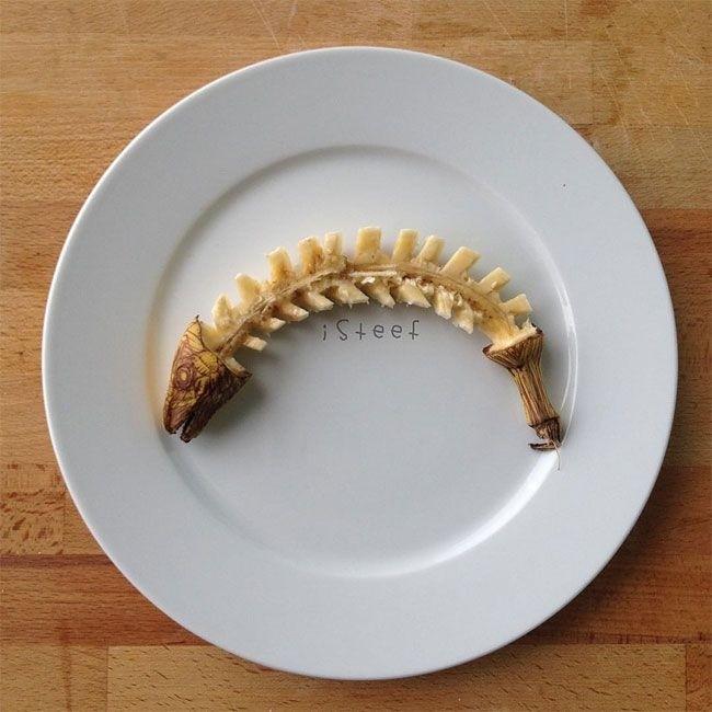 Художник превращает бананы в забавные скульптуры