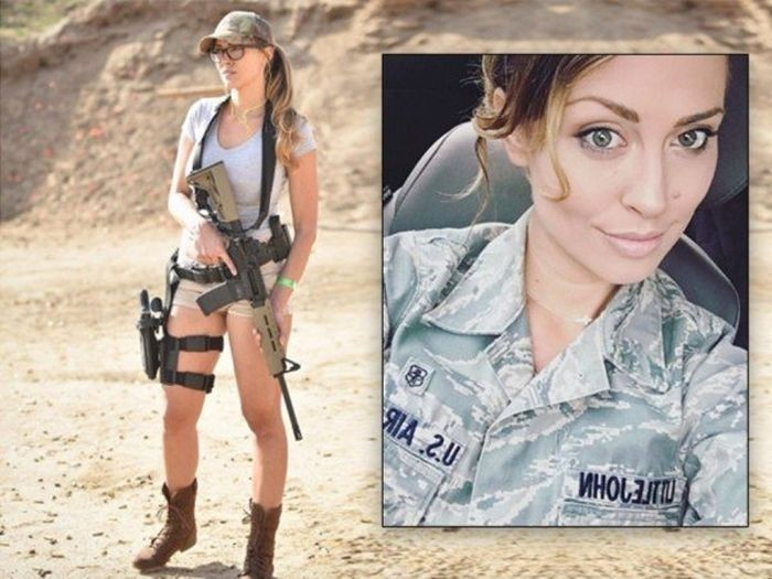 Американская военнослужащая Кариса Литтлджон, ставшая моделью