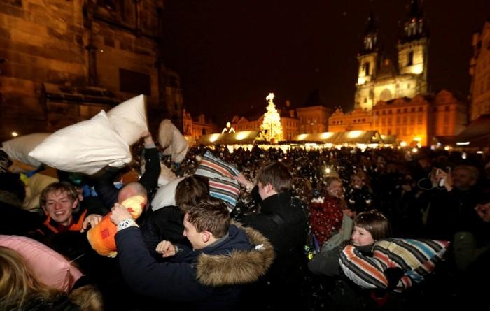 Бой подушками в Праге