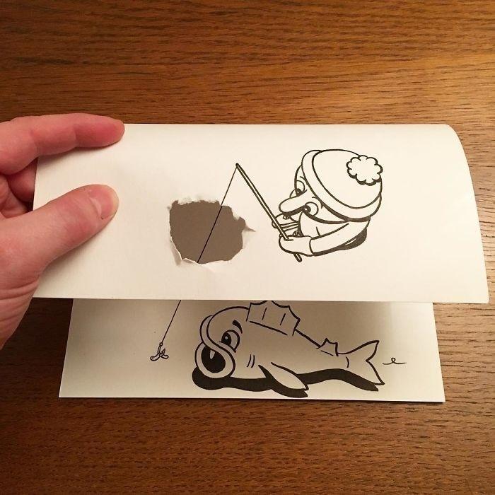 Кажется, что эти рисунки вот-вот спрыгнут с бумаги