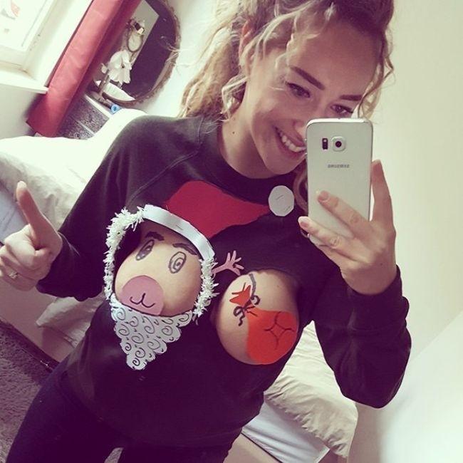 Креативный рождественский свитер