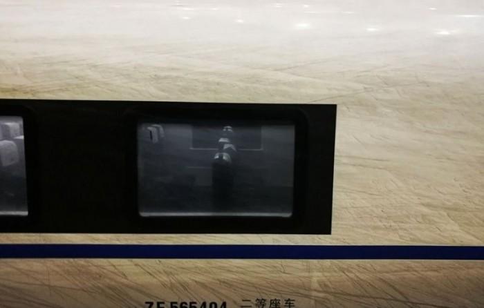 Налет смога на китайском скоростном поезде