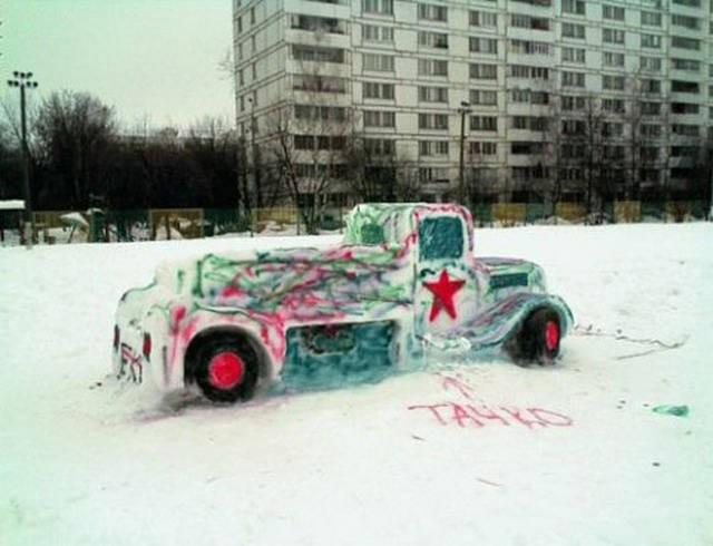 Веселые зимние кадры